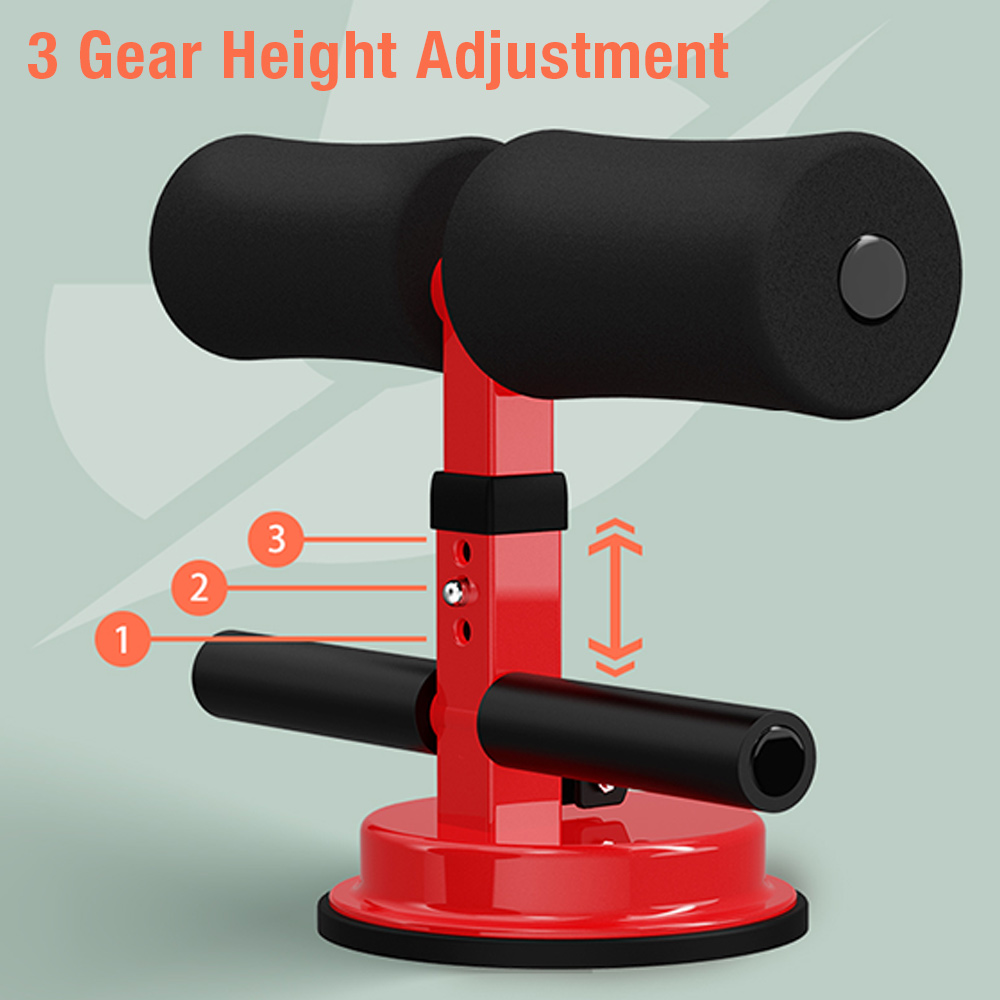 Sit Up Bar Floor Assistant Abdominal Exercise Stand Ankle Support Trainer Workout Equipment for Home Gym Fitness Travel Gear image