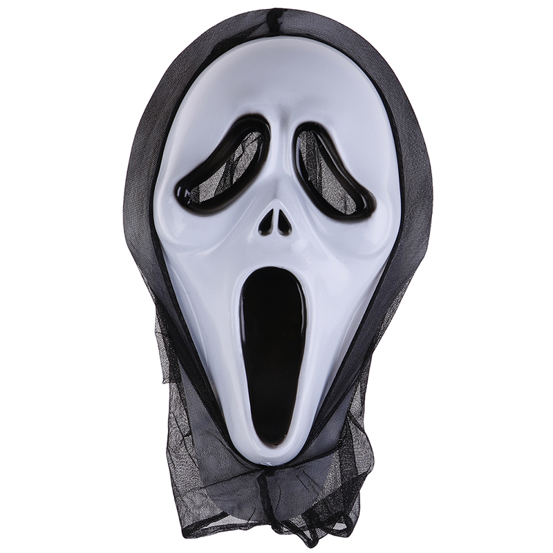 Halloween Ghost Face Mask Horror Screaming Grimace Mask For Adult Scary Cosplay Prop Carnival Masker Fancy Party Decor