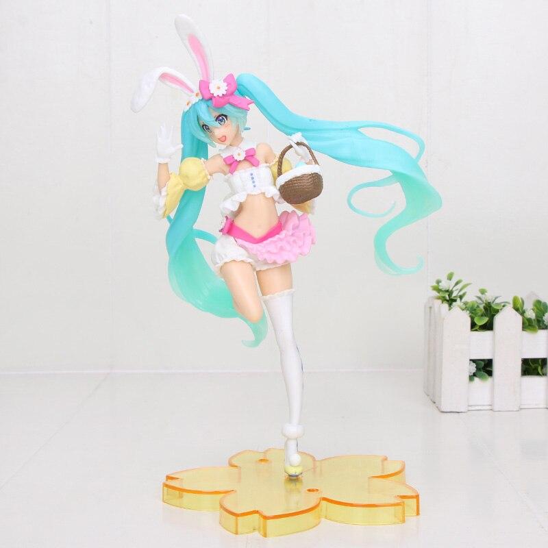 20cm Anime figure Hatsune Miku lapin oreille printemps Image ver mignon Kawaii Statue Miku Figure modèle jouet poupées cadeaux