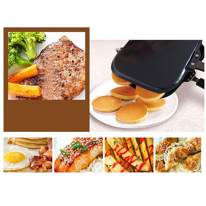 Creative Non-Stick Omelette Pancakes Double-Sided Four-Hole Frying Pan 5