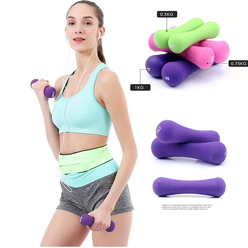 PVC Coated Bone Shape Neoprene Dumbbell Fitness Household Dumbbell Weight Sets Muscle Relex Apparatus For Arms And Hands