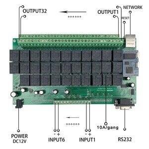 Image 5 - 32 + 6CH inteligentny dom przełącznik System automatyki moduł kontroler APP/PC pilot Alexa Ethernet 250V10A TCP IP przekaźnik Domotica