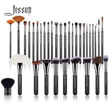 Jessup Professional Makeup-Brushes-Set Pearl Black-Silver Fibers Eyeshadow Powder Foundation Luxury Cosmetic Kit 3-34PCS T313