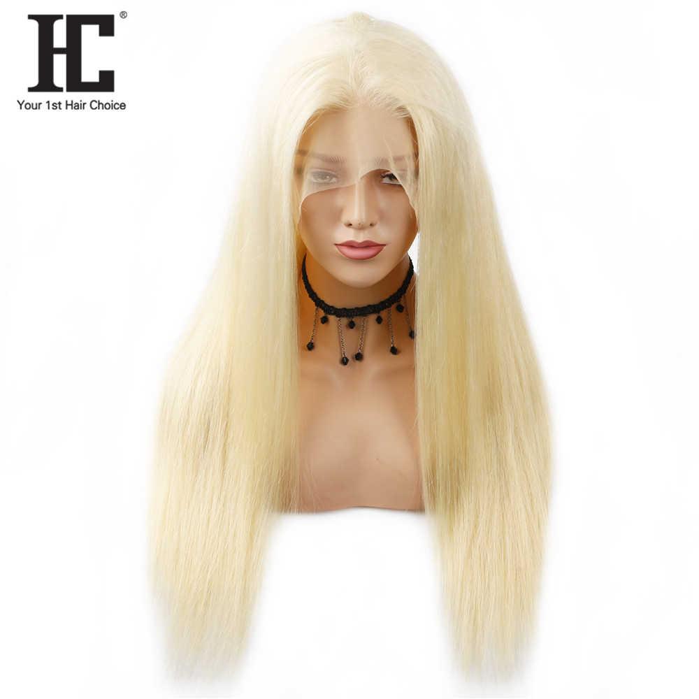 Blonde Lace Front Pruik Braziliaanse Rechte 13X6 Menselijk Haar Pruiken Pre Plukced Lace Front Remy Haar Pruiken 150% 613 Lace Front Pruik