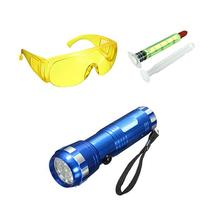 Automotive Air Conditioning Fluorescent Leak Detection Tool Flashlight Repair Small Electric