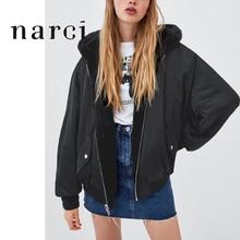 Женская двухсторонняя куртка с капюшоном narci, черная флисовая куртка из искусственного меха с длинным рукавом, верхняя одежда на зиму
