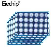 5x7 см синий двухсторонний прототип печатной платы 70x90 мм универсальная печатная плата для Arduino экспериментальная печатная плата