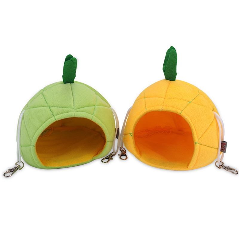 Pineapple Hamster Bed Sugar Glider Cage Accessories Hammock Hamster House Toys