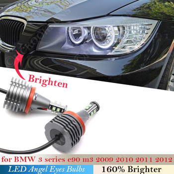 For BMW X Z 1 3 5 Series E90 Sedan LCI M3 E71 E 89 E70 E88 E81 87 E60 E82 E93 Car Headlight 160W pair Angel eyes bulb Light LED image