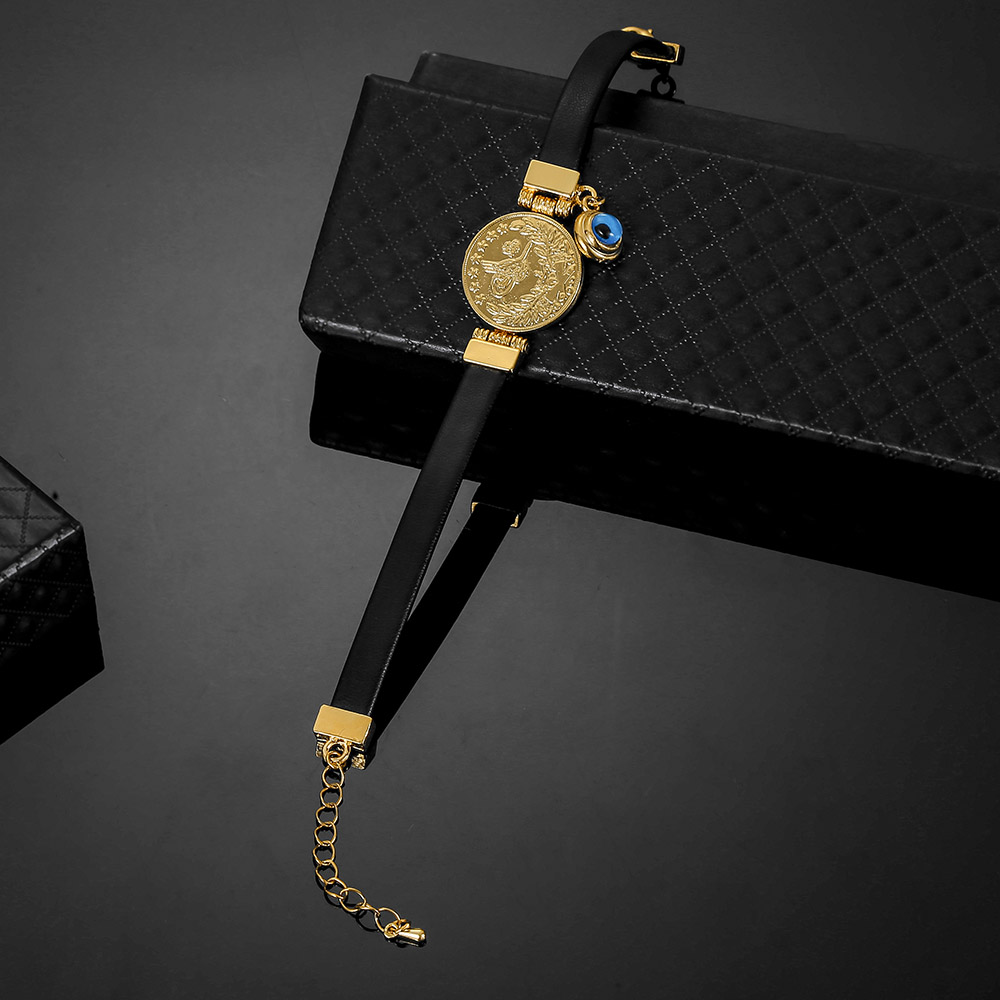 Men Women Religious Faith Jewelry Arabic Allah Bracelet Muslim Islamic Devil's Eye Leather Bracelet God Turkish Bracelets