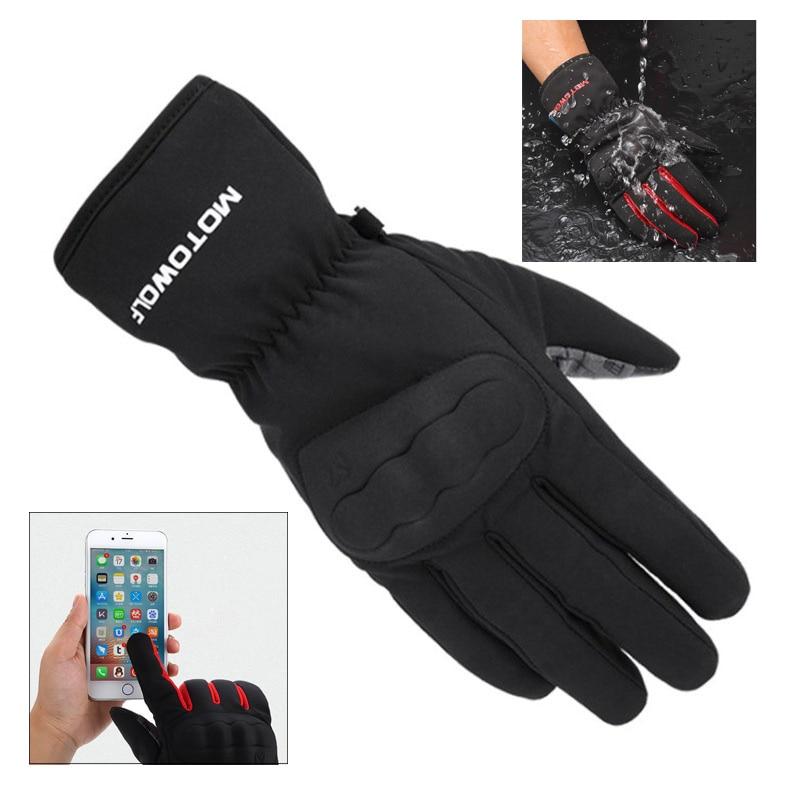 Winter Anti fall screen touch motorcycle gloves waterproof windproof moto riding gloves men/women warm motocross gloves scooter|Gloves| |  - title=