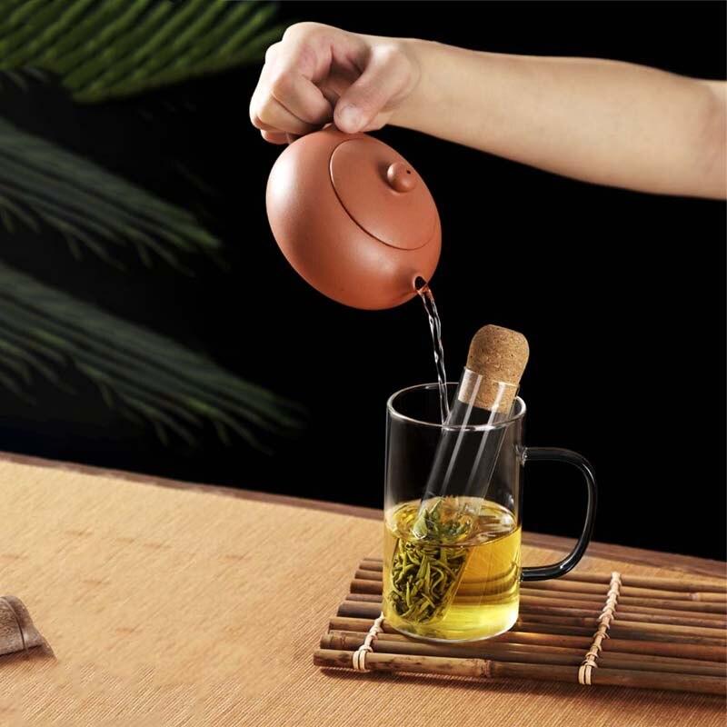 Glass Tea Infuser Creative Pipe Glass Design Tea Strainer For Mug Fancy Filter For Puer Tea Herb Tool Tube Tea Utensils Strainer