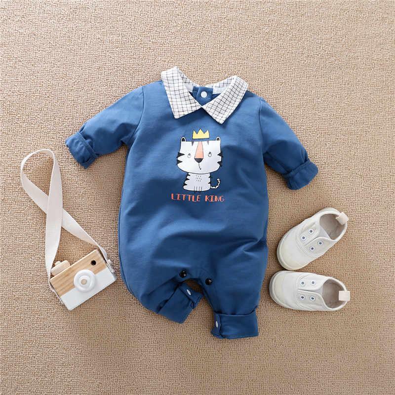 Bunvel תינוק Rompers עניבה זקן דפוס חורף Romper עבור תינוק ילד בגדי ילדה סרבל סתיו יילוד תינוק בני Rompers
