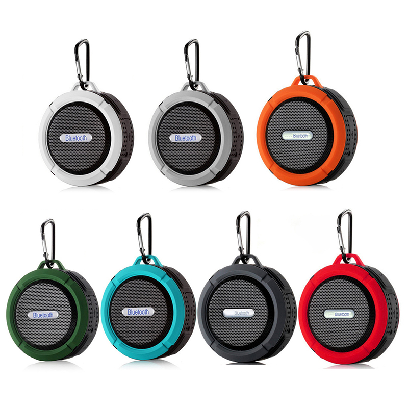 2021 C6 Waterproof Bluetooth Speaker Outdoor Sports Mini Portable Stereo Waterproof TF Subwoofer Big Suction Cup Portable Audio