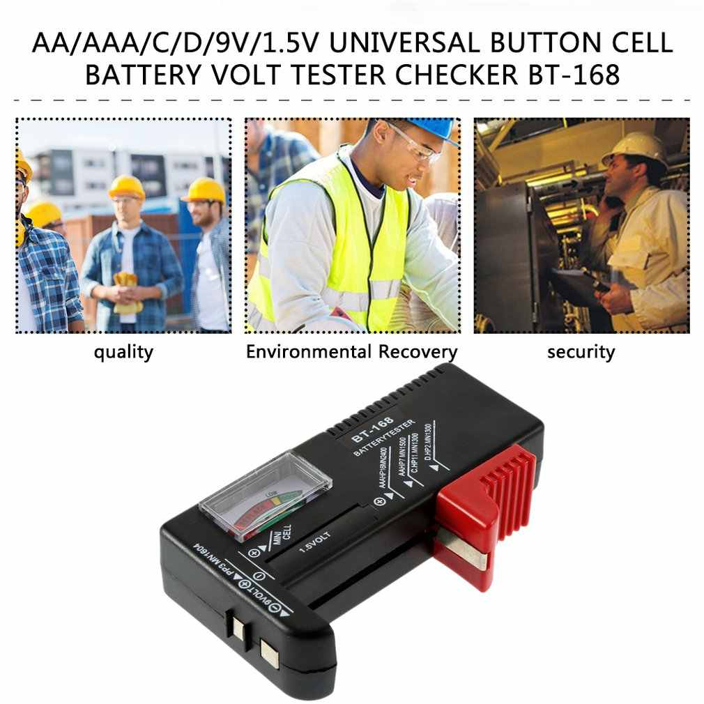 AA AAA C D 9 فولت 1.5 فولت زر خلية بطارية فولت جهاز قياس الجهد الكهربائي مدقق المؤشر الساخن في جميع أنحاء العالم