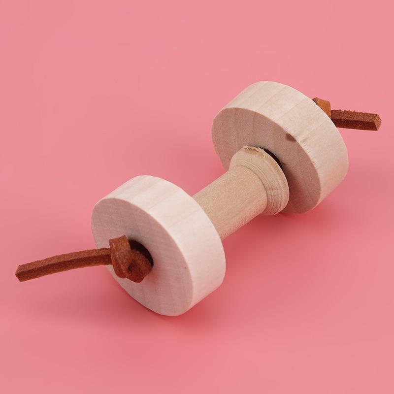 Wood Parrot umbbells Chew Toys Cableway Hamster Toys Birdcage Bridge font b Pet b font Training