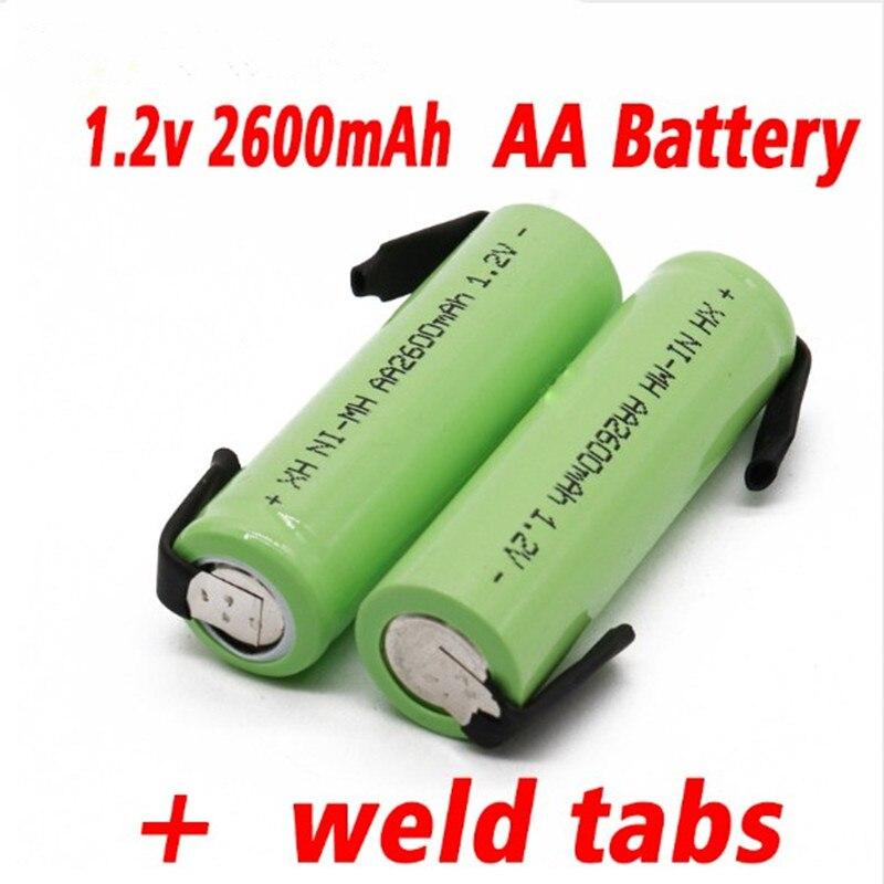 Новинка 1,2 V AA перезаряжаемая батарея 2600mah Ni MH ячейка зеленая оболочка со сварочными вкладками для Электробритва Philips Бритва зубная щетка|Перезаряжаемые батареи|   | АлиЭкспресс