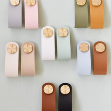 Drawer Knob Cabinet-Handle Wardrobe Cupboard Door Pulls Nordic Furniture Artificial-Leather