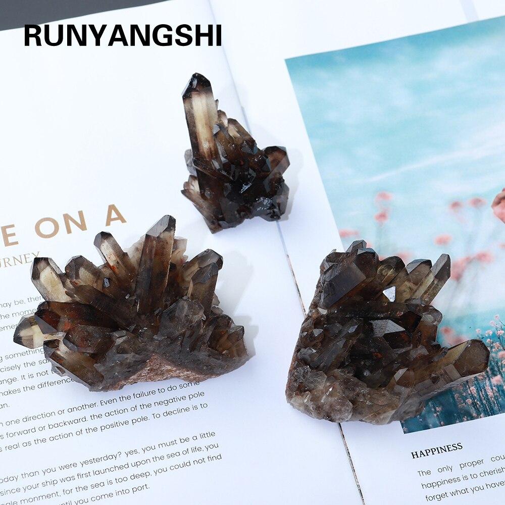 20-50 г натуральный чай Хрустальный кластер минеральный образец Смоки кварцевые лечебные камни для чая ching Dream домашний декор