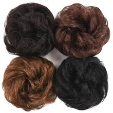 Salonchat Hair Bag remy hair Bun эластичный пончик Hair Bag человеческие волосы шиньон булочка для наращивания шиньон кудрявый шиньон да