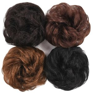 Brazilian Remy Hair Bun Elastic Donut Ponytail Human Hair 100% Human Hair Curly Clip Ins Chignon Human Hair Ponytail Extension