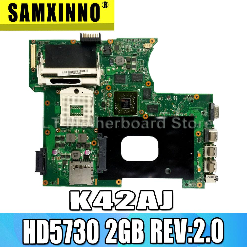 For ASUS K42J K42JA A40J X42J A42J HD5730 2GB REV:2.0 Laptop Motherboard System Board Main Board Card Logic Board Tested Well