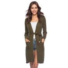 2019 autumn and winter cardigan women women's cardigan long knit cardigan long-sleeved women's sweater coat