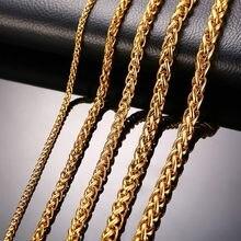 Collar de Triple cuerda de acero inoxidable para hombre, joyería de 24