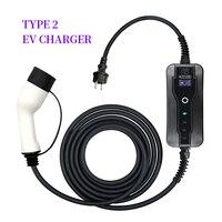 Cargador EV tipo 2, 16A, mango de conector de alta calidad, Renault,KIA,BMW, Hyundai, Jaguar, Nissan