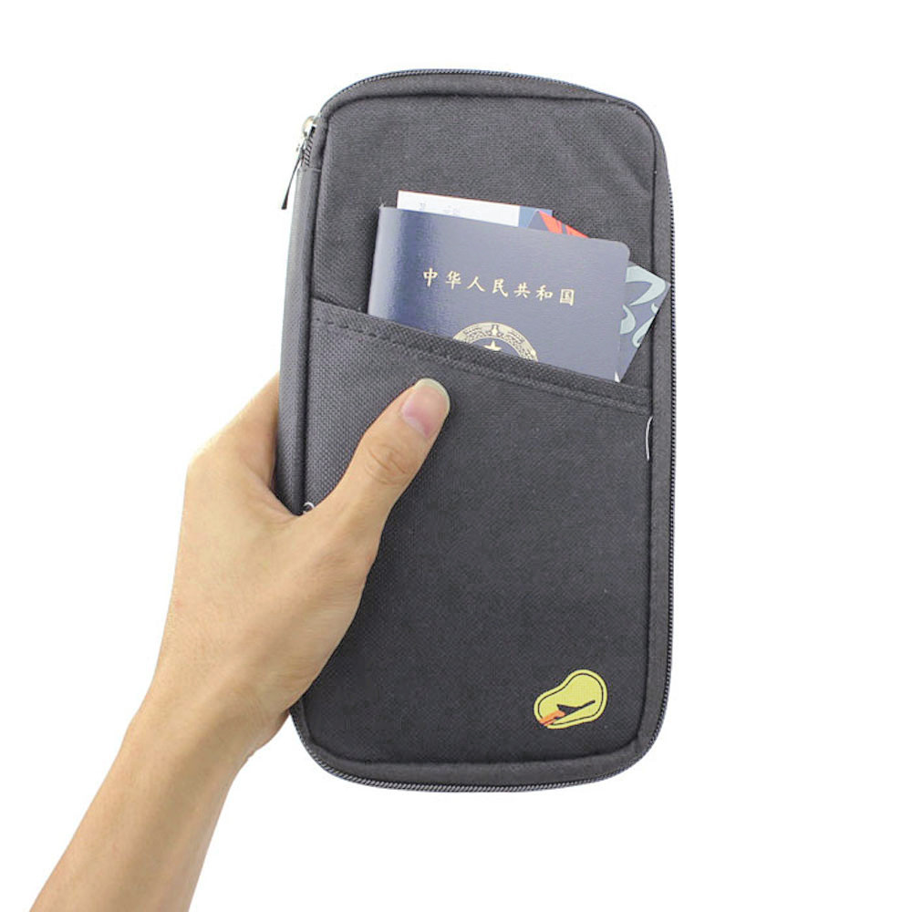 Travel Multifunction Bag Pouch Passport ID Credit Card Wallet Cash Holder Case Money Belt 2019 New#20