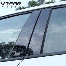 Vdéchirer – autocollant de pilier de fenêtre pour Hyundai Solaris/Solaris 2 BC, garniture noire brillante, accessoires de couverture de surface de miroir anti-rayures