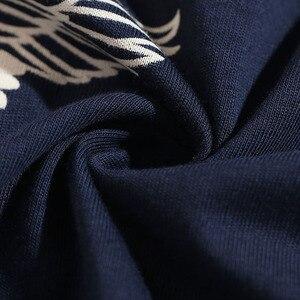 Image 5 - 2019 Japanese Streetwear T Shirt Crane Sun Print Mens Harajuku T Shirt Summer Hip Hop Tshirt Cotton Short Sleeve Tops Tees Black