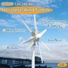 Turbina de viento con 6 aspas y controlador de carga PWM para uso doméstico, 1,3 m/s, 800w, 12v, 24v, nuevo