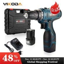 YIKODA 16.8V Electric Screwdriver Lithium Battery Cordless Drill Rechargeable Parafusadeira Furadeira Household DIY Power Tools