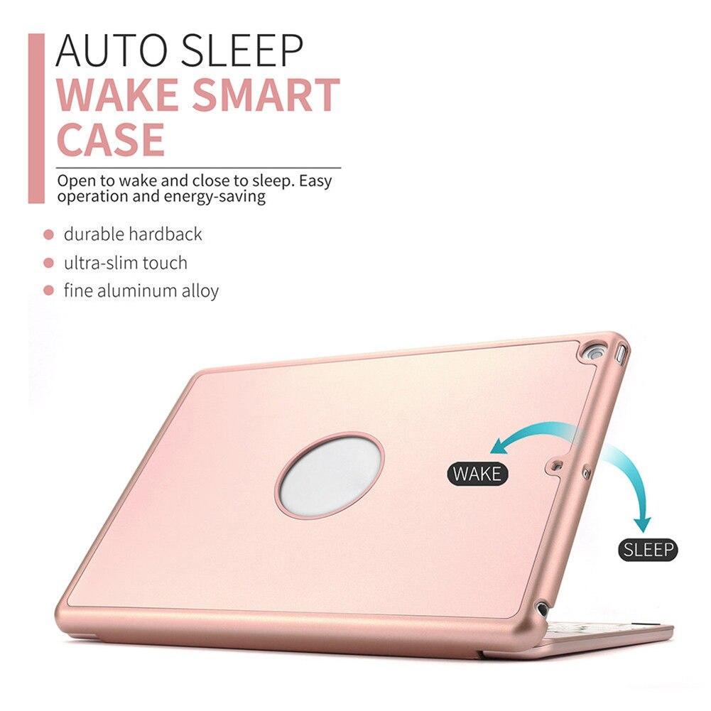 Алюминиевая Bluetooth клавиатура чехол книжка для iPad Air 2 iPad Pro 9,7 дюйма GV99