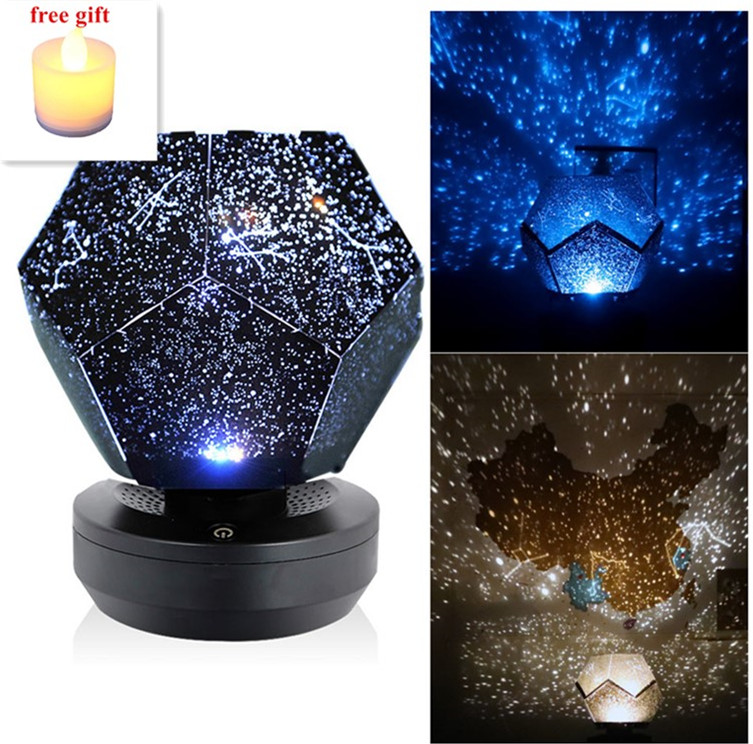 Christmas 60000 Stars Starry Sky Projector Light DIY Assembly Home Planetarium Lamp Bedroom