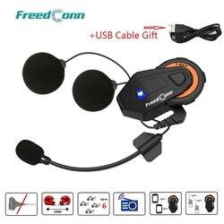 Freedconn T-Max Helmet Bluetooth 4.1 Intercom Headset Motorcycle 1500M 6 Riders Group Talk System FM Radio Motorcycle Interphone