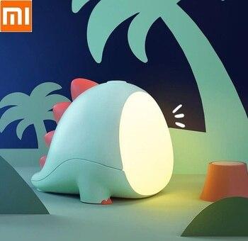 Xiaomi Silicone Night Light Cartoon Dinosaur Kids Toys Animal LED Table Lamp USB Baby Bedside Nursery Creative Holiday Gift
