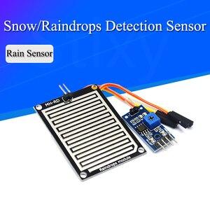 DC 3.3V-5V Neve/Raindrops Módulo Sensor de Detecção de Dupla Dupla face Chuva Tempo Módulo de Umidade Para arduino Carro Robô Kit Diy