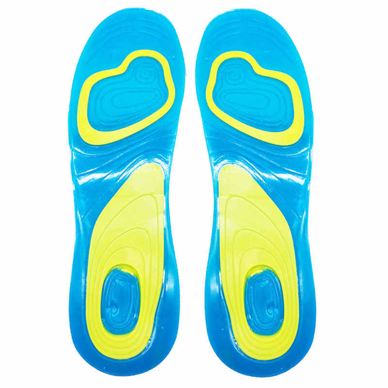 Shoe Inserts Pad Sport Insoles Foam Silicone Gel Cushion Orthopedic Foot Care d