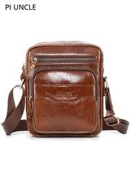 Новинка, мужская сумка из натуральной кожи, мягкая, на плечо, кошельки и сумки, сумка-мессенджер, через плечо, маленькая сумка-слинг, мульти к...