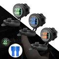 QC 3 0 USB зарядное устройство розетка зарядное устройство синий светодиодный цифровой дисплей Автомобильный прикуриватель для мотоцикла Авт...