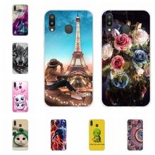 For Samsung Galaxy M20 Case Soft TPU Silicone SM-M205F Cover Animal Pattern Funda