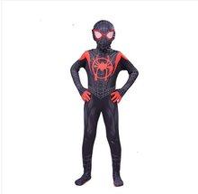 Novo 2019 crianças para o verso milhas morales cosplay traje zentai padrão bodysuit terno macacões