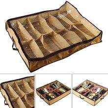 Dustproof-Bag Under-Bed Storage-Shoes Closure Folding Clear Zipper Washable Home Box