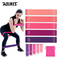 AOLIKES Training Fitness Gum Exercise Gym Strength Resistance Bands Pilates Sport Rubber Fitness Mini Bands Crossfit Workout