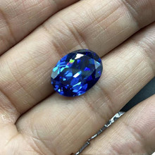 Ring-Face Bare-Stone Aquamarine Jewelry Natural Oval Pineapple-Cut Egg-Shape