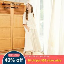 Vero Moda Vrouwen 100% Katoen Losse Fit Gestreepte Nachtkleding Pak Pyjama Sets