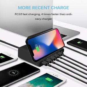 Image 3 - Беспроводное зарядное устройство Qi, 60 Вт, базовая Зарядка для Iphone X XS MAX, мульти USB, зарядное устройство для мобильного телефона, быстрая зарядка 3,0 для Samsung S9 S8