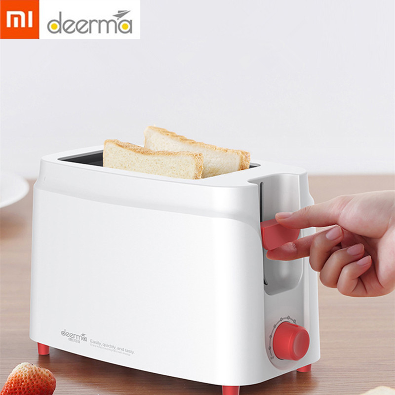New Xiaomi Deerma Toaster Bread Baking Machine Breakfast Sandwich Reheat 2-slice Fully Automatic Household Kitchen Toast Smart